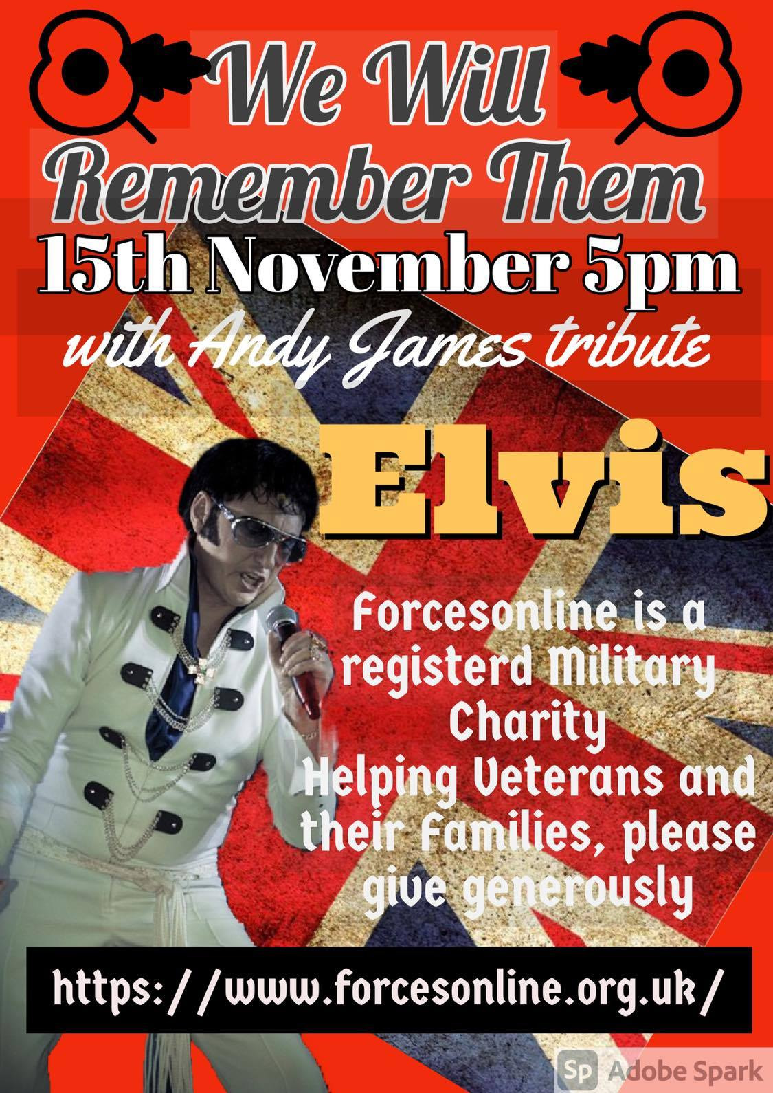 We Will Remember Them - Any James as Elvis Presley